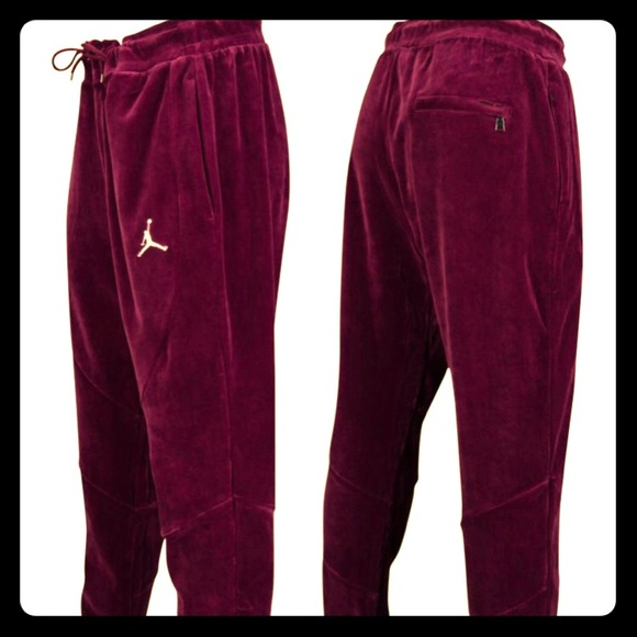 afb0bfdbc98 Jordan Pants | Mens Bordeaux Velour Drawstring Nwt | Poshmark